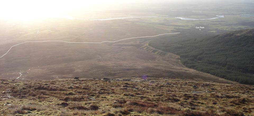 Knee of Cairnsmore route back image