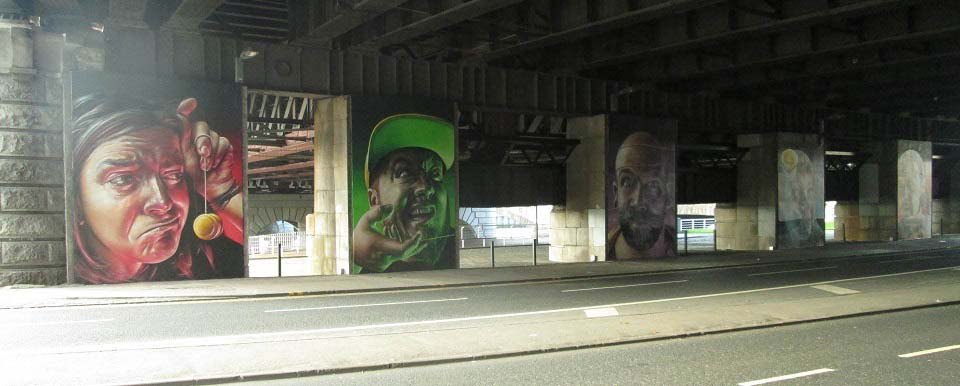 Central Station Bridge Street Art Glasgow image