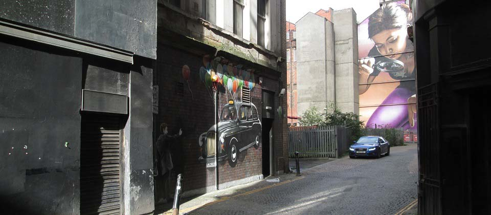 Mitchell Street Glasgow Art Floating Taxi image