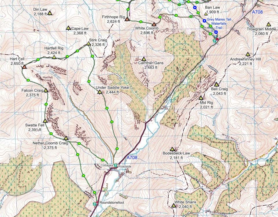 Hart Fell Map image